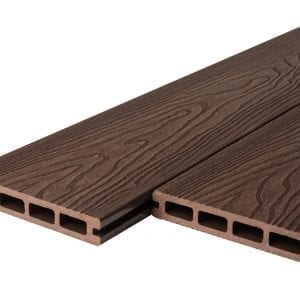 Wood Grain Victorian Brown Composite Decking Boards